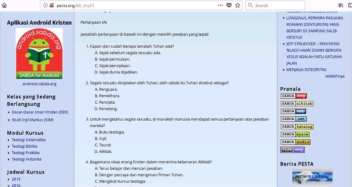 Modul di Situs PESTA