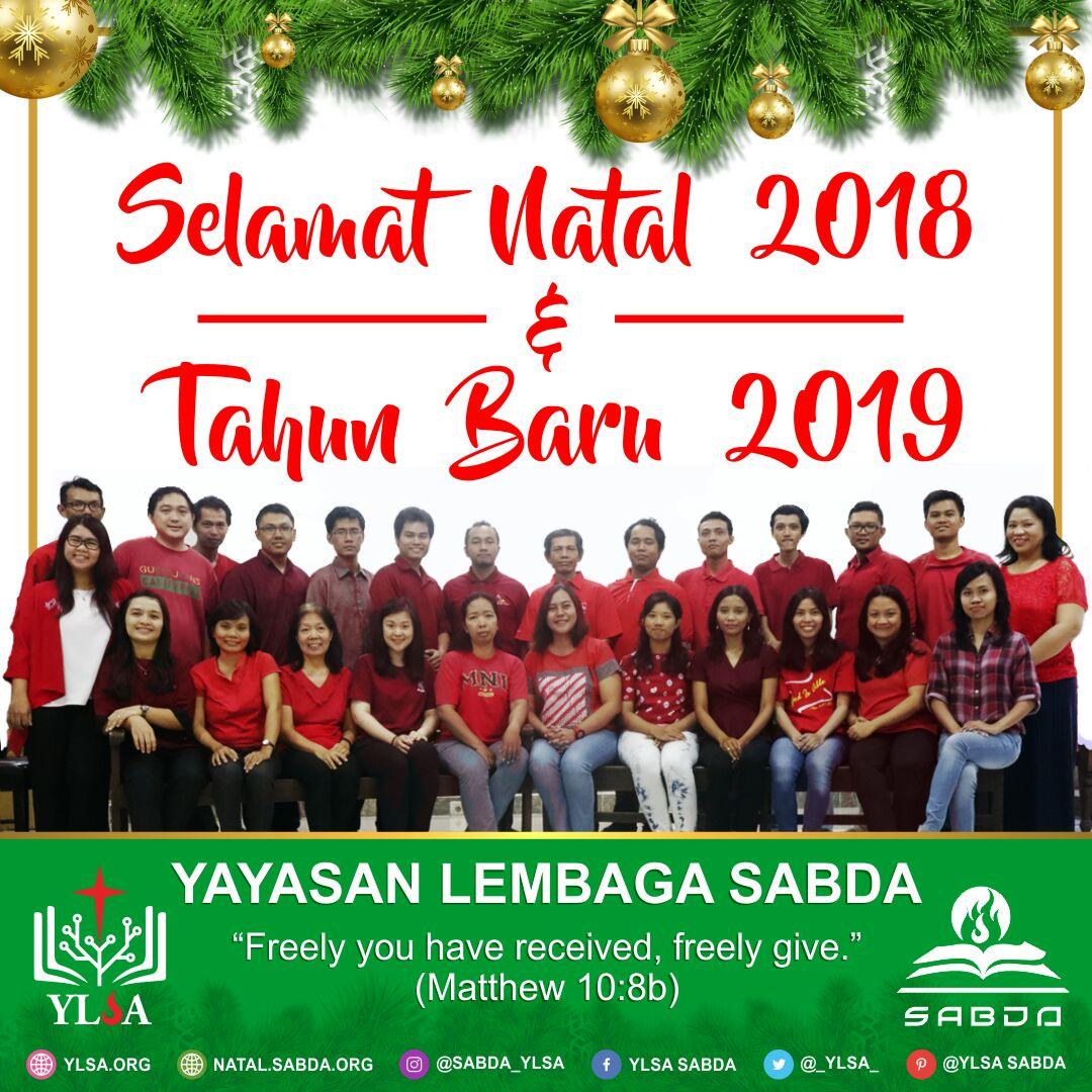 Selamat Natal 2018 & Tahun Baru 2019