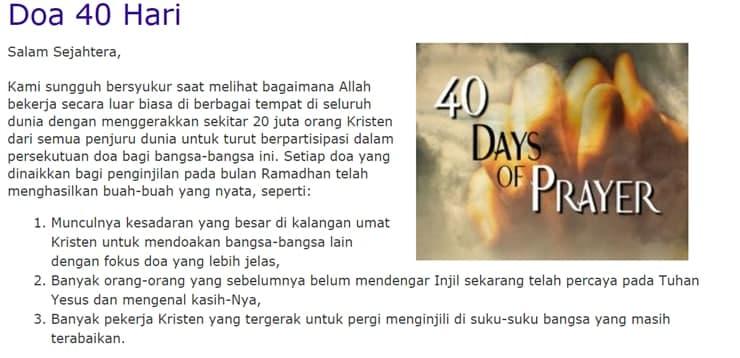 40 Hari Mengasihi Bangsa dalam Doa