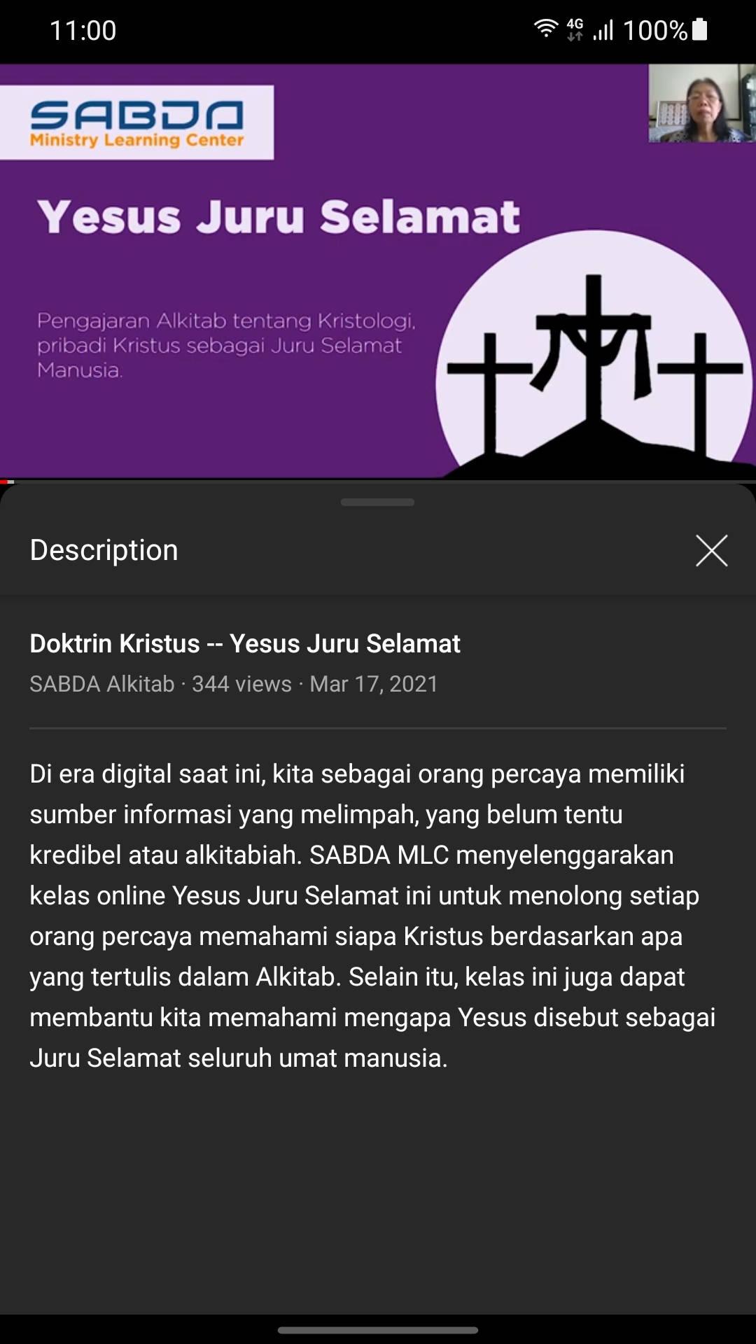 Kelas Doktrin Yesus Juru Selamat (YJS)