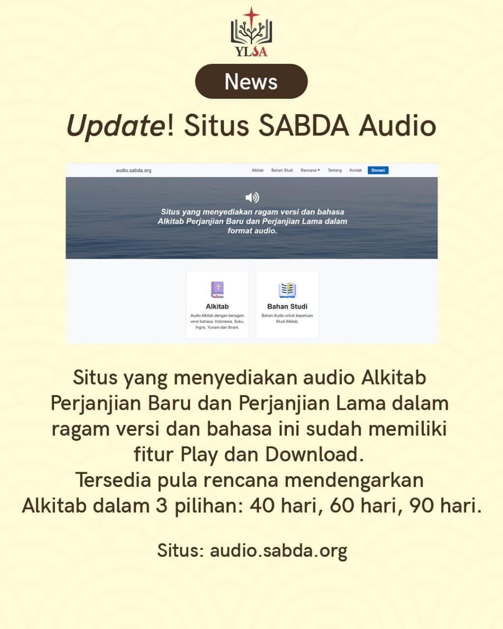 Situs yang menyediakan audio Alkitab Perjanjian Baru dan Perjanjian Lama dalam ragam versi dan bahasa.
