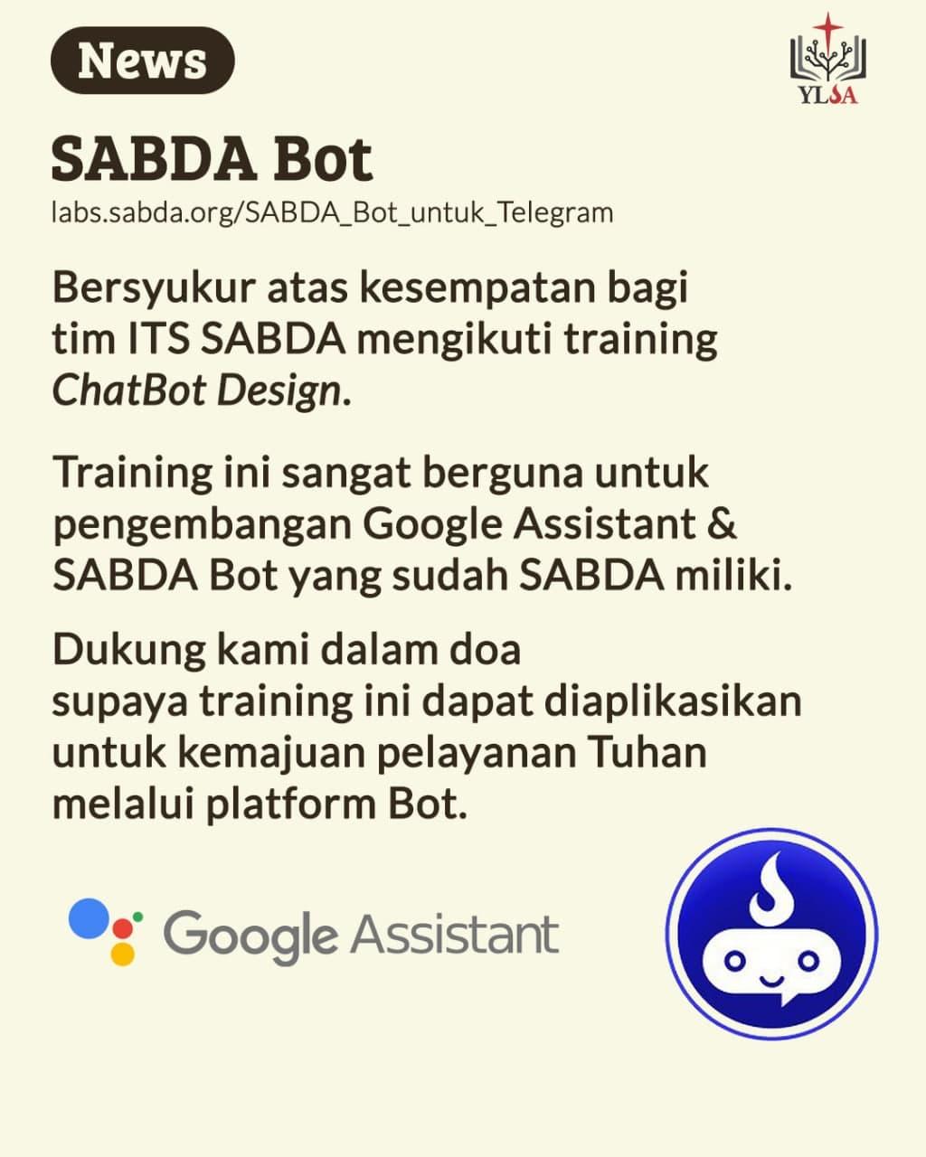 Tim ITS SABDA mengikuti training ChatBot Design.