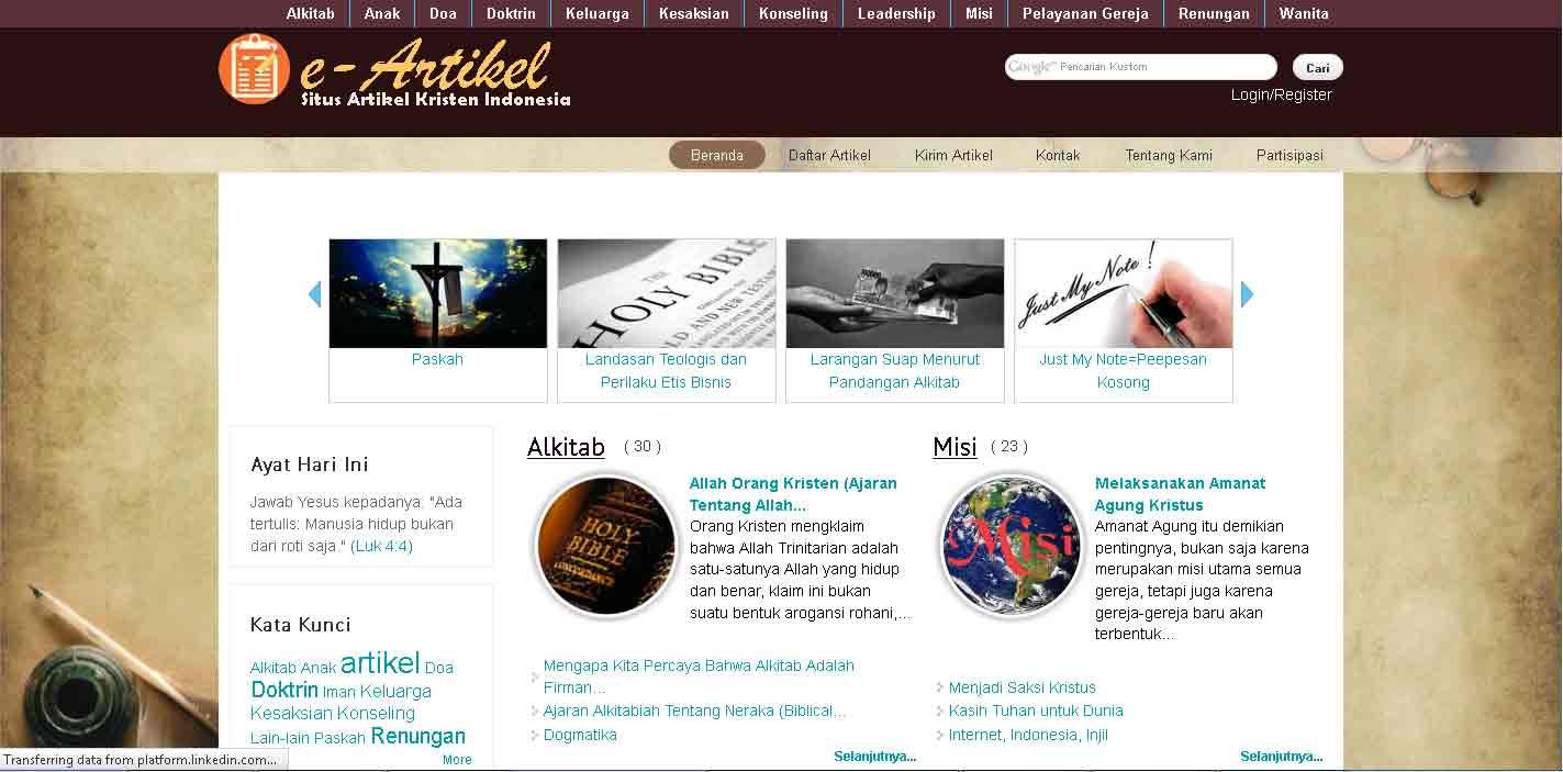 Situs e-Artikel