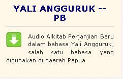 multimedia alkitab bahasa Yali Angguruk