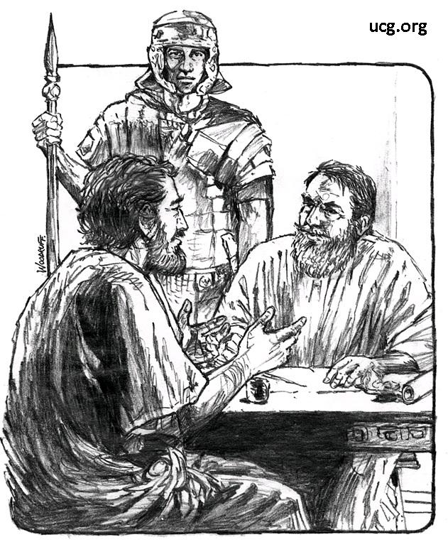 Gambar: Lukas dan Paulus