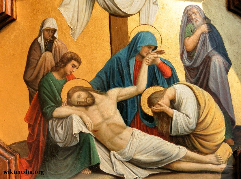 Gambar: Lukisan profil Maria dan Yesus