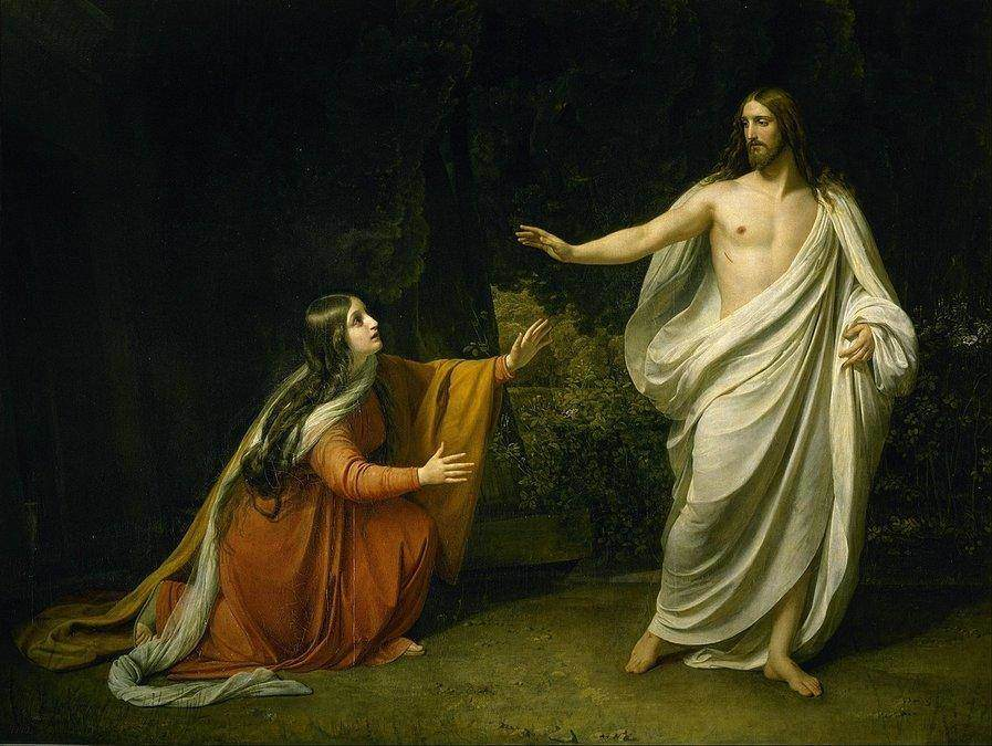 Maria melihat Yesus sudah bangkit