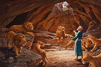 Gambar: Daniel di gua singa
