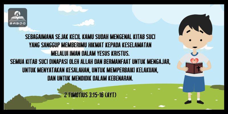 2 Timotius 3:15-16, AYT