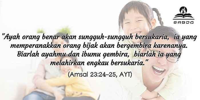 Amsal 23:24-25, AYT