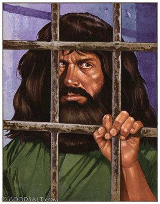 Gambar: Yohanes dipenjara