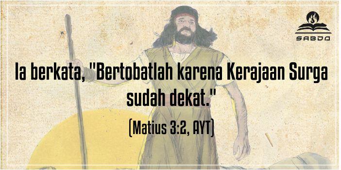 Matius 3:2, AYT