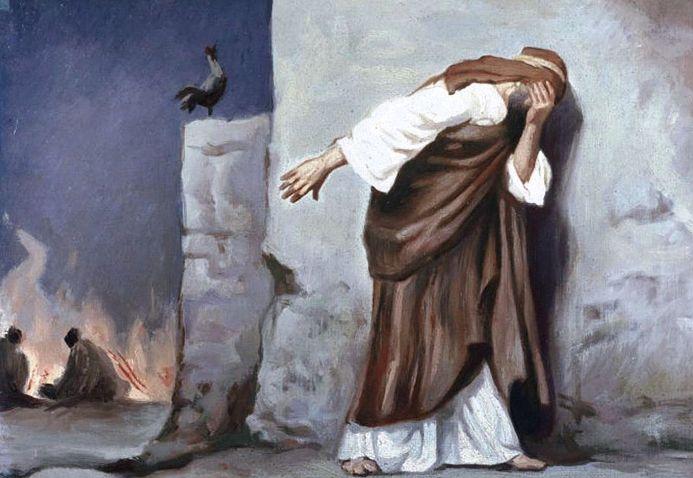Gambar: Penyesalan Petrus setelah menyangkal Yesus.