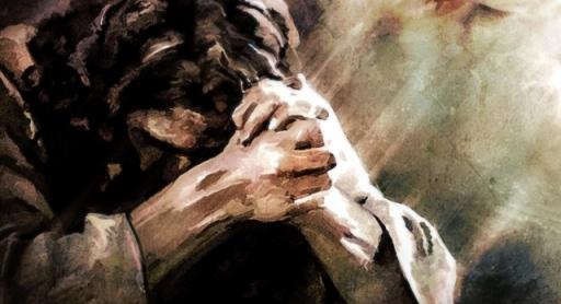 Gambar: Yesus berdoa.