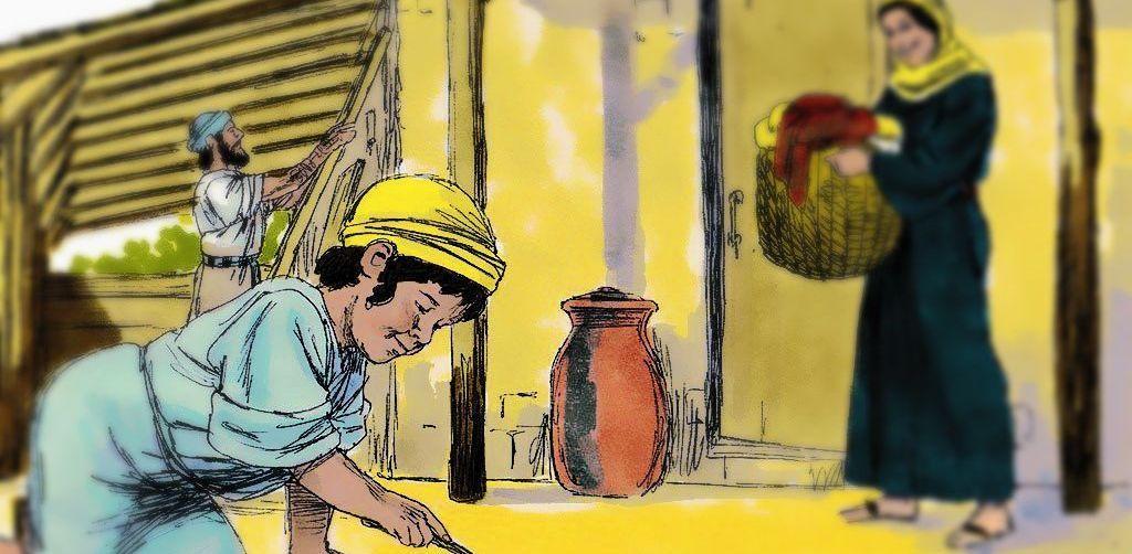 Gambar: Ilustrasi masa kecil Yesus