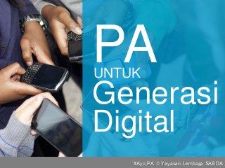 PA untuk Gen Z