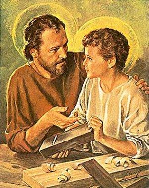 Gambar: Yusuf dan Yesus