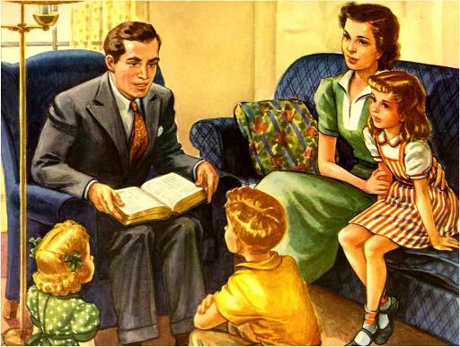 Gambar: Ortu Kristen mengajar