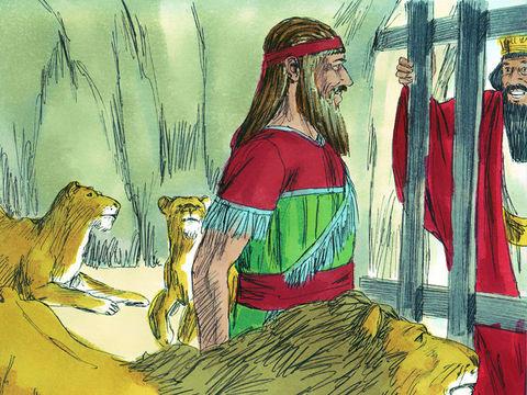 Gambar: Daniel di kandang singa