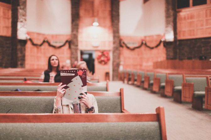 Di gereja.
