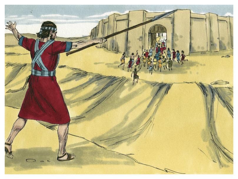 Gambar: Yosua Memimpin Israel