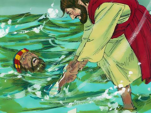 Petrus di atas air