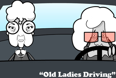 Gambar: Wanita tua mengemudi