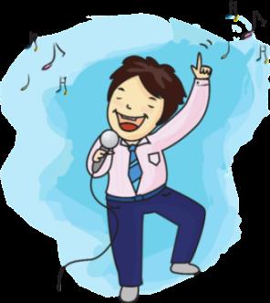 Gambar: Pria Bernyanyi