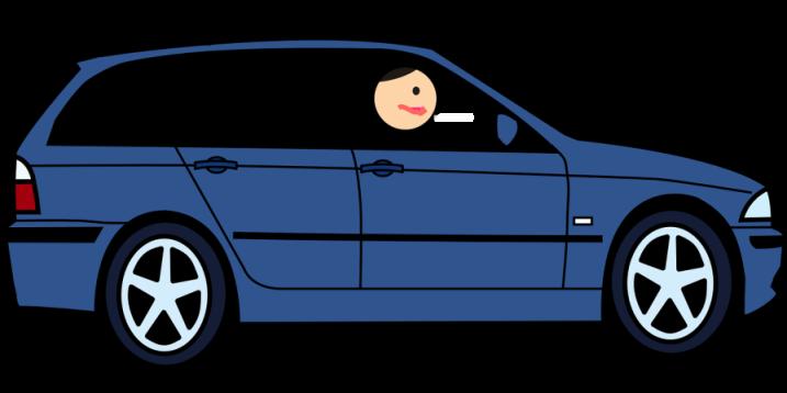 Gambar: Mengendarai Mobil