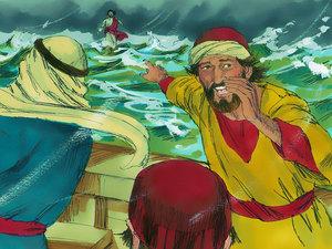 Gambar: Yesus Berjalan di Atas Air