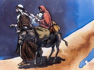 Gambar: Bayi Yesus Dibawa ke Mesir