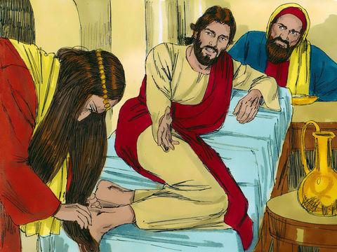 Gambar: Maria Mengurapi Kaki Yesus