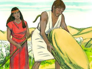Gambar: Musa di Midian