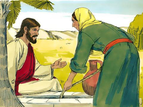 Gambar: Wanita Samaria dan Tuhan Yesus