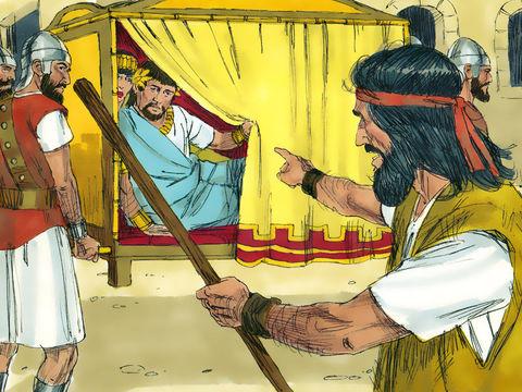 Gambar: Yohanes menegur Herodes