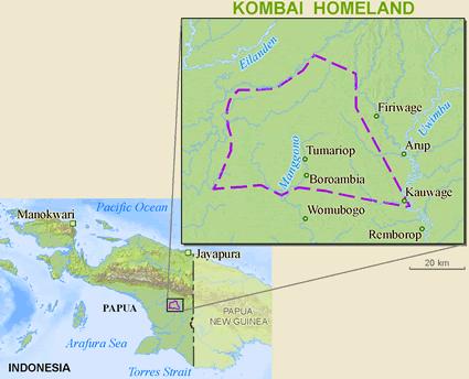 Gambar: Wilayah Kombai
