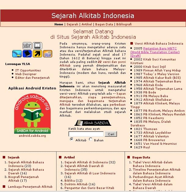 Situs Sejarah Alkitab Indonesia