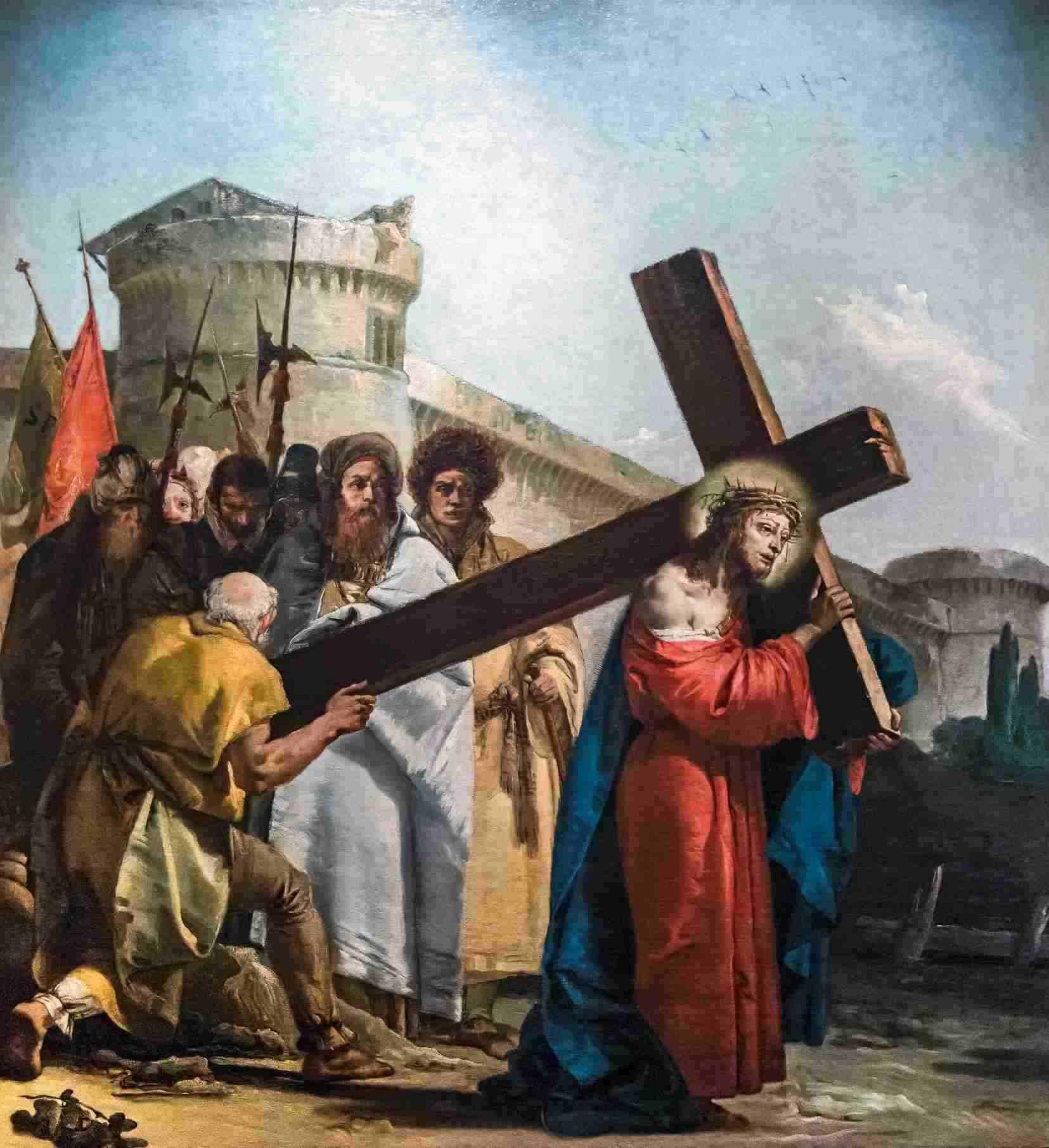 Yesus memanggul salib