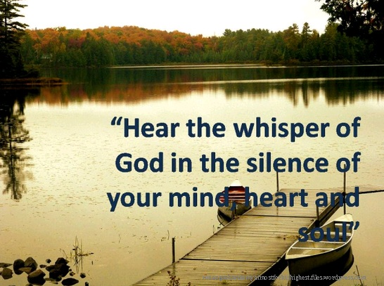 Gambar: Hear the whisper of God