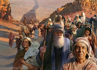 Gambar: Bangsa Israel menyeberang laut