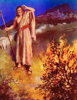 Gambar: Musa dipanggil oleh Allah