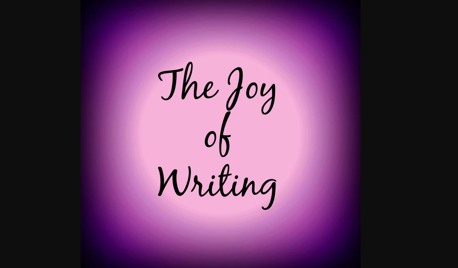 Gambar: Joy of Writing