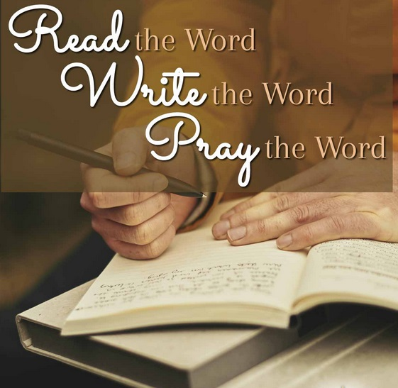 Gambar: Read, write, and pray the Word
