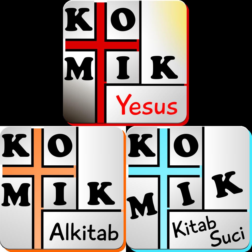 Set Komik Alkitab Bergambar, Komik Kitab Suci, dan Komik Yesus Hidup