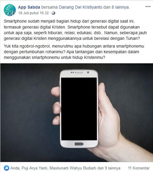 Hubungan antara Smartphone dan Pertumbuhan/Pembunuhan Rohani