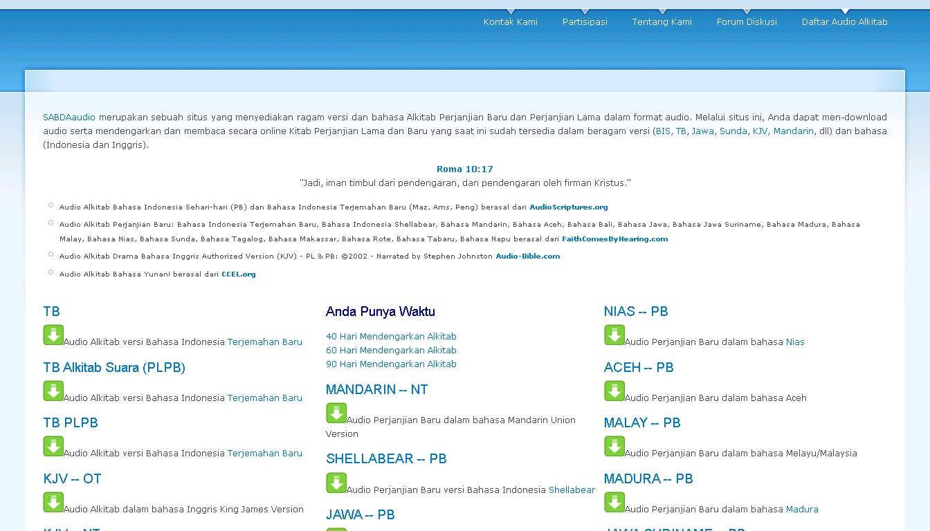 Situs SABDAaudio