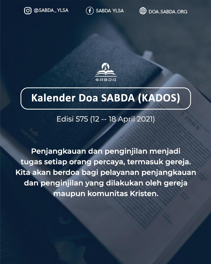 Pokok Doa KADOS 12 -- 18 April 2021