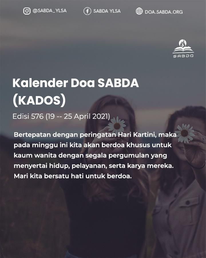 Pokok Doa KADOS 19 -- 25 April 2021