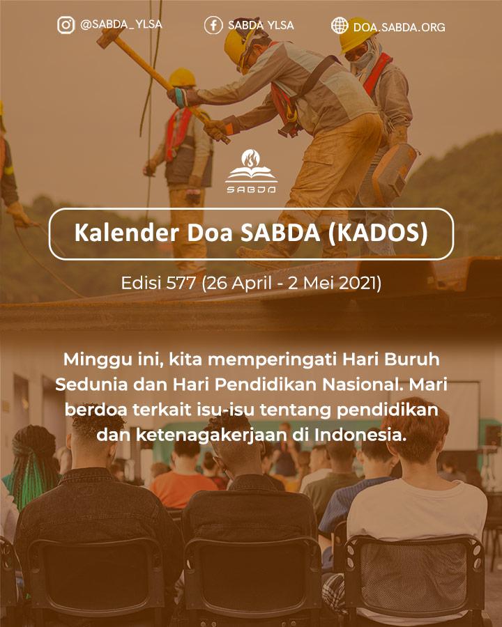 Pokok Doa KADOS 26 April -- 2 Mei 2021
