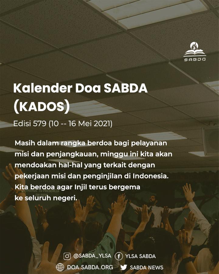 Pokok Doa KADOS 10 -- 16 Mei 2021